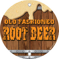 12 inch Round Concession Stand Sign with Old Fashioned Root Beer Design - 2/Pack