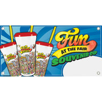 12 inch x 24 inch Rectangular Concession Stand Sign with Fun at the Fair Design