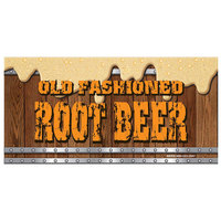 12 inch x 24 inch Rectangular Concession Stand Sign with Old Fashioned Root Beer Design