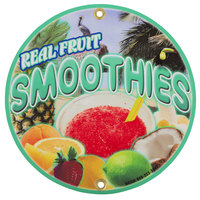 12 inch Round Concession Stand Sign with Smoothie Design - 2/Pack