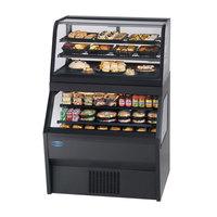 Federal CD4828/RSS4SC 48 inch Black Dual Service Dual Temperature Merchandiser