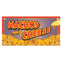 12 inch x 24 inch Rectangular Concession Stand Sign with Nacho and Cheese Design