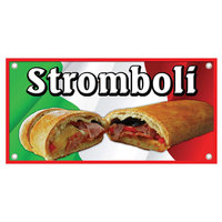 12 inch x 24 inch Rectangular Concession Stand Sign with Stromboli Design
