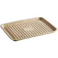 EcoChoice 9 inch x 12 inch Molded Fiber / Pulp Rectangle Tray - 125/Pack