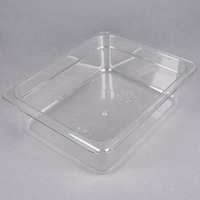 Cambro 24CW135 Camwear 1/2 Size Clear Polycarbonate Food Pan - 4 inch Deep