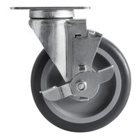 5 inch Swivel Caster with Brake for Choice 125 lb. Mobile Ice Bins