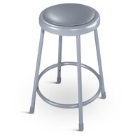 National Public Seating 6424 24 inch Round Padded Lab Stool