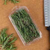 CKF 86701 Clear 1 oz. Hook Top Clamshell Herb Pack   - 720/Case