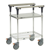 Metro MS1824-FGBR PrepMate MultiStation with Galvanized and Brite Zinc Wire Shelving - 26 inch x 19 3/8 inch x 39 1/8 inch