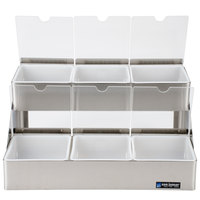 San Jamar B4706INL Two Tier Condiment Bin - 6 Qt. Capacity