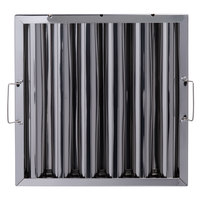 Regency 16 inch x 16 inch x 2 inch Stainless Steel Hood Filter