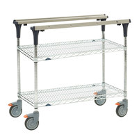Metro MS1836-BRBR PrepMate MultiStation with Brite Zinc Wire Shelving - 38 inch x 19 3/8 inch x 39 1/8 inch