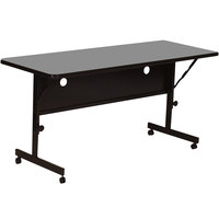 Correll FT2472 24 inch x 72 inch Rectangular Premium Laminate High Pressure Deluxe Flip Top Table