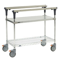 Metro MS1836-FGBR PrepMate MultiStation with Galvanized and Brite Zinc Wire Shelving - 38 inch x 19 3/8 inch x 39 1/8 inch