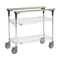 Metro MS1824-BRBR PrepMate MultiStation with Brite Zinc Wire Shelving - 26 inch x 19 3/8 inch x 39 1/8 inch