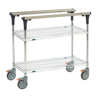 Metro MS1830-BRBR PrepMate MultiStation with Brite Zinc Wire Shelving - 32 inch x 19 3/8 inch x 39 1/8 inch