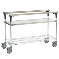 Metro MS1848-FGBR PrepMate MultiStation with Galvanized and Brite Zinc Wire Shelving - 50 inch x 19 3/8 inch x 39 1/8 inch