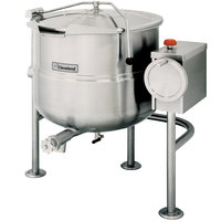 Cleveland KDL-40-T 40 Gallon Tilting 2/3 Steam Jacketed Direct Steam Kettle