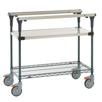 Metro MS1836-FSNK PrepMate MultiStation with Stainless Steel and MetroSeal 3 Wire Shelving - 38 inch x 19 3/8 inch x 39 1/8 inch