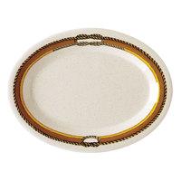 GET OP-135-RD 13 1/2 inch x 9 1/4 inch Diamond Rodeo Oval Platter - 12/Case