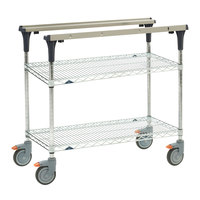 Metro MS1848-BRBR PrepMate MultiStation with Brite Zinc Wire Shelving - 50 inch x 19 3/8 inch x 39 1/8 inch