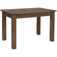 Flash Furniture XA-F-46X30-GG Hercules 30 inch x 46 inch Antique Rustic Solid Pine Farm Table