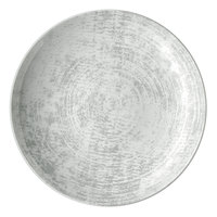 Schonwald 9021328-63070 Shabby Chic 11 inch Structure Grey Round Porcelain Deep Coupe Plate - 6/Case