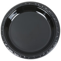 Genpak BLK09 Silhouette 9 inch Black Premium Plastic Plate   - 100/Pack
