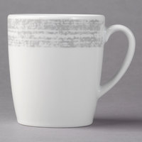 Schonwald 9015270-63070 Shabby Chic 6.75 oz. Structure Grey Porcelain Tall Cup with Handle - 12/Case