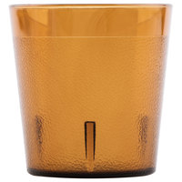 Cambro 900P153 Colorware 9.7 oz. Amber Customizable Plastic Tumbler - 72/Case