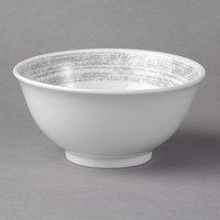 Schonwald 9336664-63070 Shabby Chic 10 oz. Structure Grey Round Porcelain Bowl - 12/Case