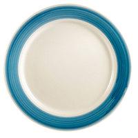 CAC R-5-BLU Rainbow Plate 5 1/2 inch - Blue - 36/Case
