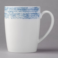Schonwald 9015630-63072 Shabby Chic 10 oz. Structure Blue Porcelain Mug with Handle - 6/Case