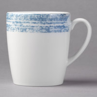 Schonwald 9015270-63072 Shabby Chic 6.75 oz. Structure Blue Porcelain Tall Cup with Handle - 12/Case
