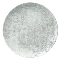 Schonwald 9331217-63070 Shabby Chic 6 3/4 inch Structure Grey Round Porcelain Coupe Plate - 12/Case