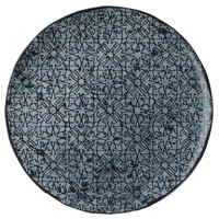 Schonwald 9331217-63077 Shabby Chic 6 3/4 inch Stone with Ornaments Round Porcelain Coupe Plate - 12/Case