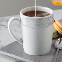 Schonwald 9015630-63070 Shabby Chic 10 oz. Structure Grey Porcelain Mug with Handle - 6/Case