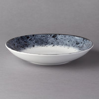 Schonwald 9021322-63076 Shabby Chic 8 1/4 inch Stone Round Porcelain Deep Coupe Plate - 6/Case