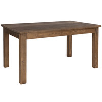 Flash Furniture XA-F-60X38-GG Hercules 38 inch x 60 inch Antique Rustic Solid Pine Farm Table