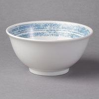 Schonwald 9336664-63072 Shabby Chic 10 oz. Structure Blue Round Porcelain Bowl - 12/Case