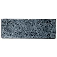 Schonwald 9332630-63076 Shabby Chic 11 3/4 inch x 4 1/4 inch Stone Rectangular Porcelain Platter - 12/Case