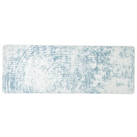 Schonwald 9332630-63072 Shabby Chic 11 3/4 inch x 4 1/4 inch Structure Blue Rectangular Porcelain Platter - 12/Case