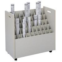Safco 3083 30 1/4 inch x 15 3/4 inch x 29 1/4 inch Putty 50-Compartment Laminate Mobile Roll File