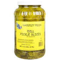 Harvest Fresh 1 Gallon Smooth Cut 1/8 inch Dill Pickle Slices