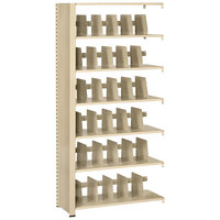 Tennsco 1276ACSD Snap-Together Sand Six-Shelf Steel Closed Add-On Unit - 36 inch x 12 inch x 76 inch
