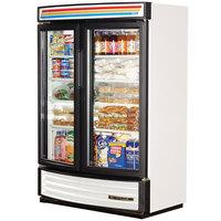 True GDM-35SL-RF-LD White Slim Line Radius Front Refrigerated Glass Door Merchandiser - 16.4 Cu. Ft.