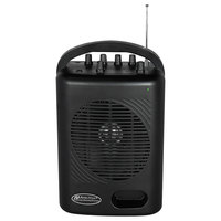 AmpliVox SW245B Power Pod 50W Black Wireless Microphone PA System with Wireless Handheld Microphone and Belt-Pack Transmitter Lapel Microphone