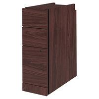 HON 105093N 10500 Series Mahogany Laminate Three-Drawer Narrow Pedestal File Cabinet - 9 1/2 inch x 22 3/4 inch x 28 inch