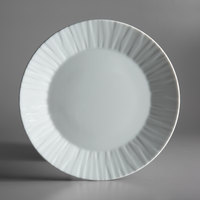 Schonwald 9360079 Character 11 1/4 inch White Round Porcelain Plate - 6/Case