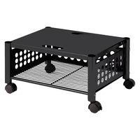 Vertiflex VF52009 21 1/2 inch x 17 7/8 inch x 11 1/2 inch Black One-Shelf Underdesk Machine Stand